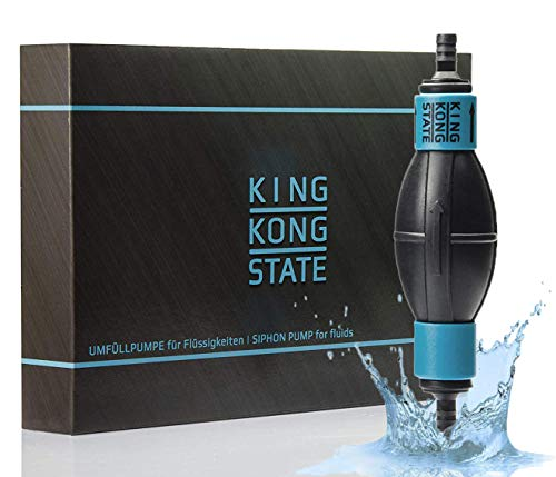 King Kong State Handpumpe NEU - Umfüllpumpe für Flüssigkeiten wie Wasser, Benzin, Diesel oder Öl-Gemische l optimal für den Auto- und Motorrad-Bereich