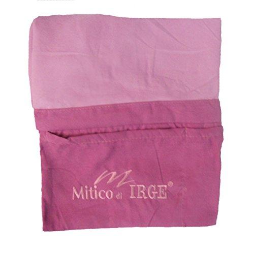 IL MITICO DI IRGE telo lettino mare in microfibra con tasche laterali ed elastici antiscivolo (rosa)