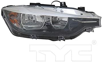 CarLights360: Fits 2016 2017 BMW 328d Headlight Assembly Passenger Side (Right) w/o Logo w/Bulbs Halogen Type - Replacement for BM2519166 (Vehicle Trim: Models w/Halogen Headlamps)
