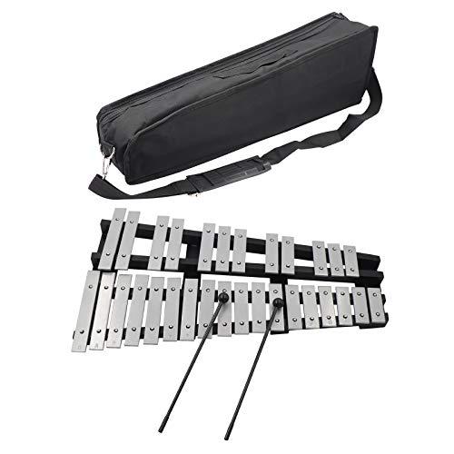 Xilofono pieghevole 30 toni,glockenspiel strumento musicale musicale con cornice in legno per bambini e bambini,include 2 bastoncini