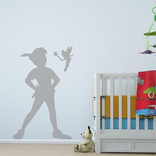 Peter Pan Schatten Abnehmbare Vinyl Wand Aufkleber Aufkleber Home Room Decor Art - Medium (650mm x 1000mm)
