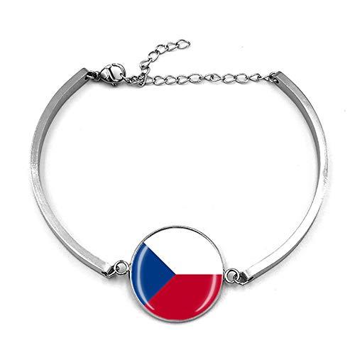 República Checa Estilo De La Bandera Ajustable Pulsera De Viaje Regalo Regalo De Moda Pulsera