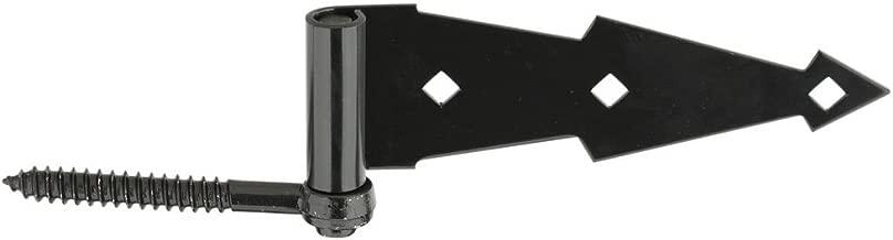 National Hardware N165-464 V844 Ornamental Screw Hook/Strap Hinges in Black, 2 pack