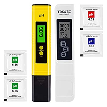 PPM Meter and pH Meter Kit for Drinking Water Hydroponics Aquarium