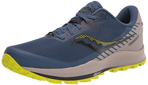 Saucony Men's Peregrine 11 Trail Running Shoe, Storm/Gravel