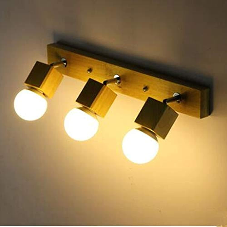La lampe de mur en bois moderne a mené les têtes de lampe de mur décorative de phares de miroir