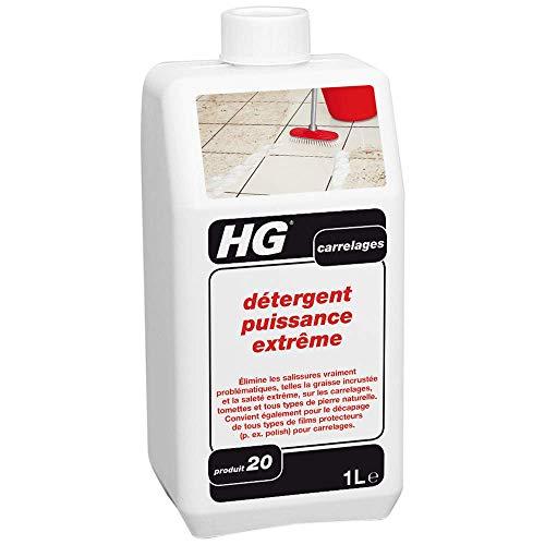HG détergent puissance extrême 1L – un puissant produit nettoyage carrelage qui élimine la graisse, la saleté et les taches tenaces