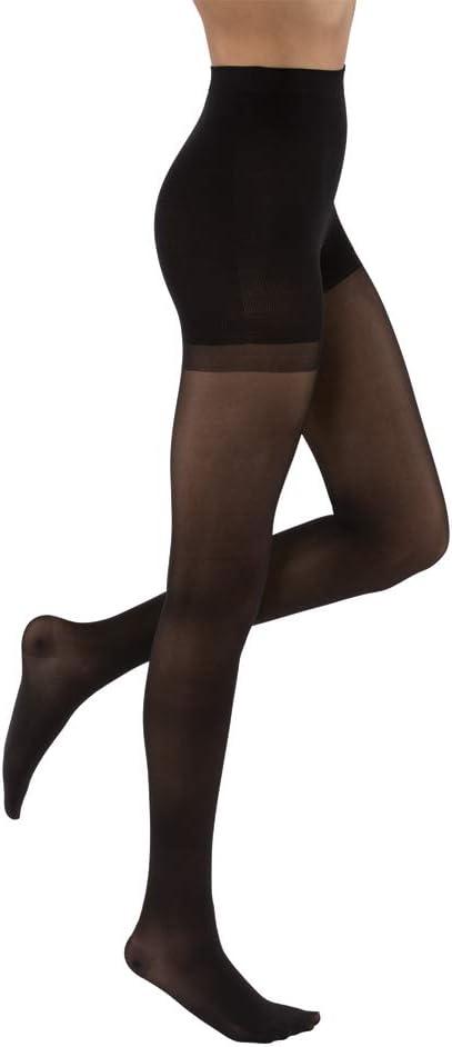 JOBST UltraSheer Waist High 15-20 mmHg Compression Stockings Pantyhose, Closed Toe, Large, Classic Black