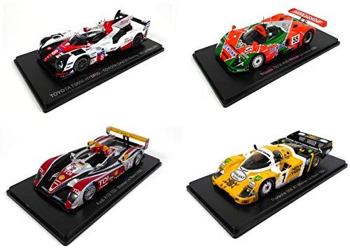 - Lotto di 4 Auto Le Mans Spark 1/43 per Hachette Japon: Toyota TS050 2017 + Mazda 787B 1991 + Porsche 956 1984 + Audi R10 2008 (01 + 02 + 03 + 06)