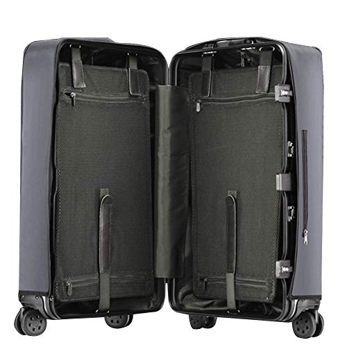 MISSMAO_FASHION2019 Transparente Gepäckabdeckung Material PVC Koffer Schutzhülle Kofferschutzhülle Gepäck Cover Wasserdicht Dunkel Grau 24\'\'[(41-44cm) L*(57-60cm) H]
