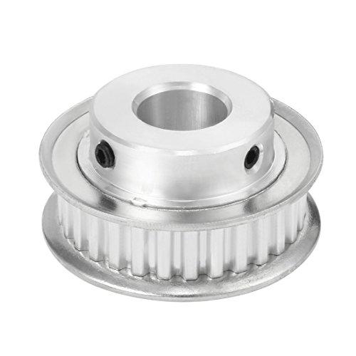 sourcing map Aluminum XL 30 Teeth 17mm Bore Timing Belt Idler Pulley Flange Synchronous Wheel for 10mm Belt 3D Printer CNC