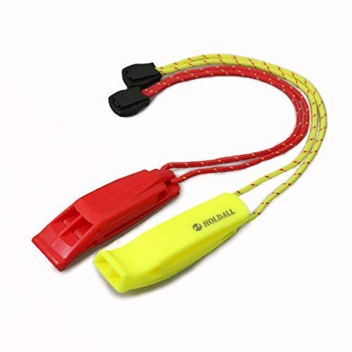 HOLDALL Emergency Safety Whistle with Lanyard, Loud...