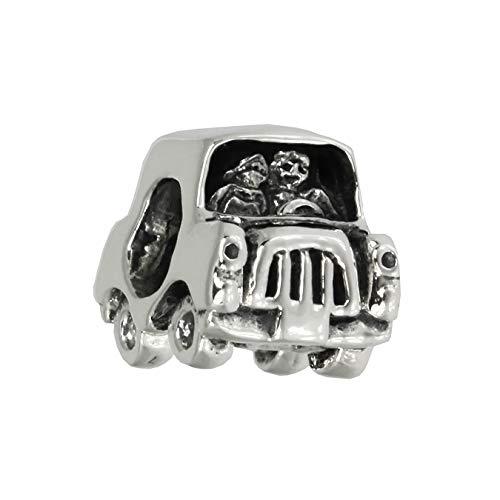 IMPPAC Bead Charm Element Auto Just Married 925 Echt Silber Anhänger D3SBB372 Silber Beadsschmuck für die Frau