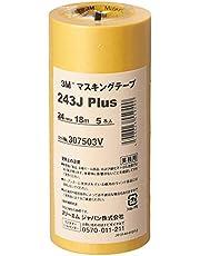 3M マスキングテープ 243J Plus 24mm×18M 5巻パック (243J 24)