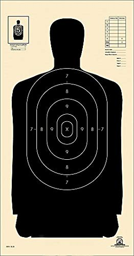 Official NRA B29 Police Silhouette Shooting Targets 14quotx 22quot Paper Shooting Target Indoor and Outdoor Target Great Value Targets 25 Yard Police Pistol Silhouette Black 100