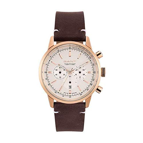 GANT Herren Analog Quarz Uhr mit Leder Armband 7630043923689