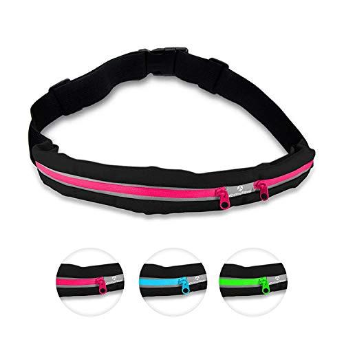 #DoYourFitness Laufgurt »Run4Fun« Stilvolle Gürteltasche/Bauchtasche/Lauftasche für Laufen, Wandern, Klettern, Reiten - 3X Farben/Handys bis ca. 5,5Zoll / elastisch wasserdicht & festsitzend ! Pink