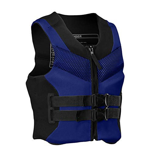 Pulley Traje de Neopreno de Neopreno,Comfort Chaleco Salvavidas,Deportes acuáticos Waterski Jetski Wakeboarding Safety Impact Vest,para Nadar Canotaje Kayak Piragüismo Unisex Adulto,Azul,3XL