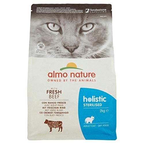 Almo Nature Holistic Sterilised con Carne Fresca - Cibo secco completo per gatti adulti con Manzo Fresco. Sacchetto da 2 Kg