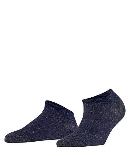 FALKE Damen Sneakersocken Shiny Rib - Baumwollmischung, 1 Paar, Blau (Royal Blue 6000), Größe: 39-42