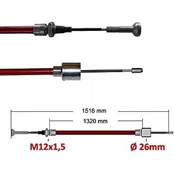 p4U 2X Original AL-KO Bremsseil Longlife Glocke inklusive 2X Kugelmutter M8 H/üllenl/änge 1320 mm Gesamtl/änge 1530 mm Bremse Alko 299.713 299713