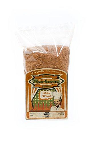 Axtschlag Räuchermehl Erle, 1000 g XXL Packung, zum Kalträuchern und Heißräuchern, für alle Grills und Räuchergeräte geeignet, 100% Reinholz