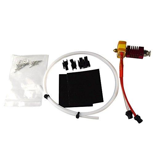 Extrusora ensamblada Hot End para Creality CR-10 Impresora 3D 1.75mm Filamento, 0.4mm Boquilla 12V 40W Calentador NTC Termistor Hotend