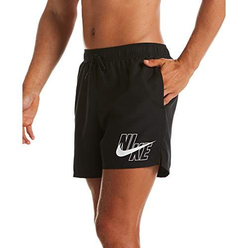 Nike 5 Volley Short Badehose für Herren XL Schwarz