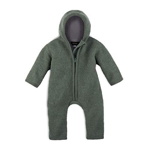 Halfen Wollwalk - Mono para bebé de lana virgen orgánica, 100% fabricado en Alemania, color verde oliva verde oliva 62-68 cm