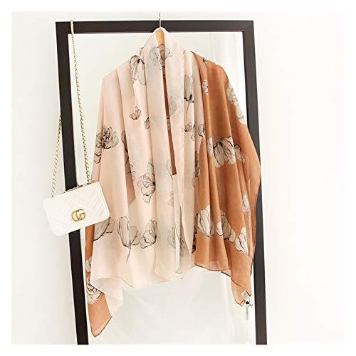 スカーフ レディース 女性スカーフファッションプリントコットンスプリングウィンターウォームバンダナ格子縞 贈り物 (Color : M31 2, Size : 180x90cm)