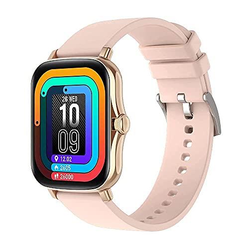 Pulsera de Actividad Inteligente Reloj Inteligente Deportivo para Hombre Mujer Niños Niñas IP67 Smartwatch 1,69' Monitor de Sueño Podómetro Sms Llamadas iPhone Huawei Xiaomi Android Samsung (Oro)
