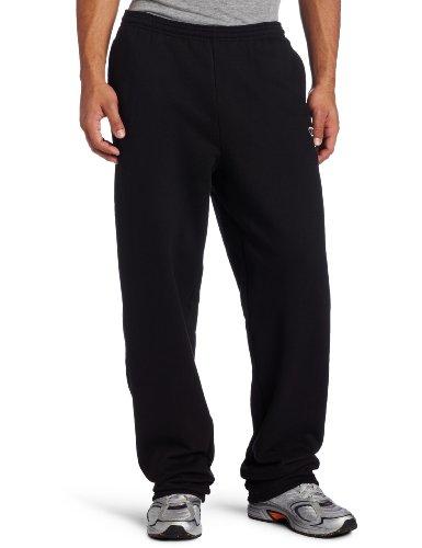 Champion Men's Open Bottom Eco Fleece Sweatpant, Black, X-Large