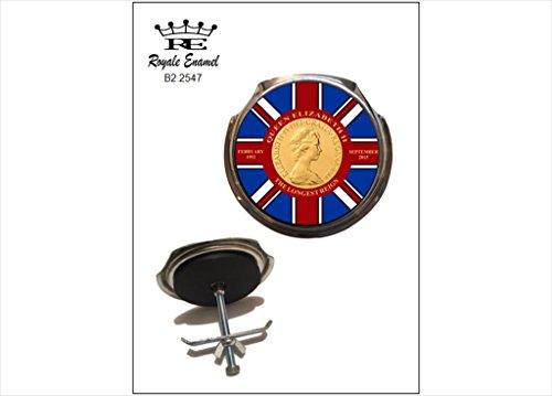 Preisvergleich Produktbild Royale Auto Grill Badge Queen Elizabeth 2 nd der längsten Reign B2. 2547