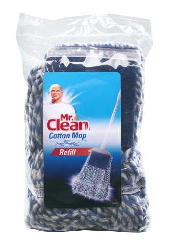 Mr. Clean 446235 Cotton Mop with Scrubber Refill, X-Larg