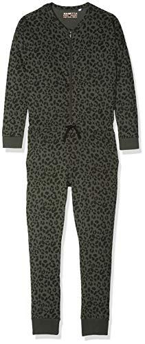 Sanetta Mädchen Jumpsuit Einteiliger Schlafanzug, Grün (Deep Khaki 4991.0), 140