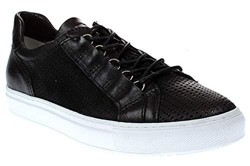 Mjus Anton - Herren Schuhe Sneaker Schnürer - 360108-0202 0001-nero-argento, Größe:44 EU