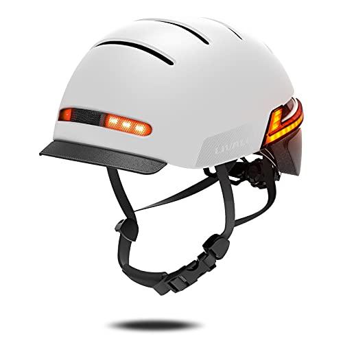 Casco Inteligente LIVALL, Cascos de Ciclismo Bluetooth con Luces traseras de señal de Giro de 270 °, Alerta SOS, Casco de Bicicleta para Adultos cómodo Certificado para Hombres, Mujeres y Adultos