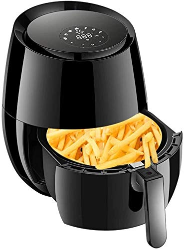Fryer 3.6L Led Display Stainless Steel Deep Fryer 1400W -Large Intelligent No Fumes Air Fryer Household Large Capacity Fries Machine Portable Oven Safe and Healthy Best Gift