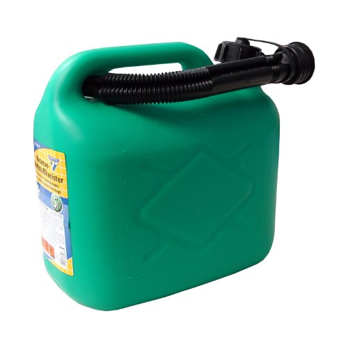 Tanica carburante 5 litri, PVC verde,omologazione ONU