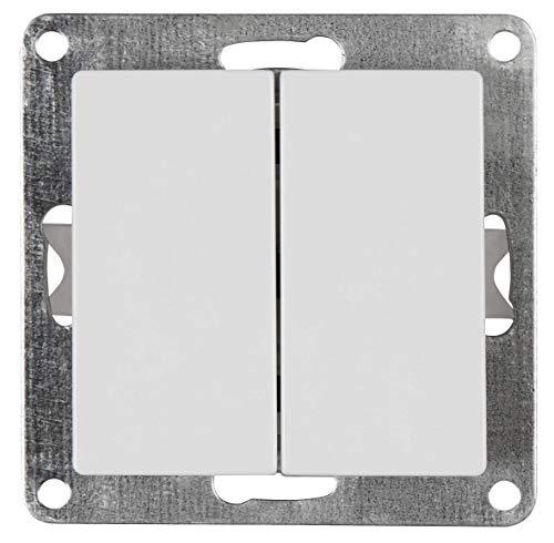 MC POWER - Serien-Schalter | CUP | 2-fach, 250V~/10A, UP, weiß, poliert
