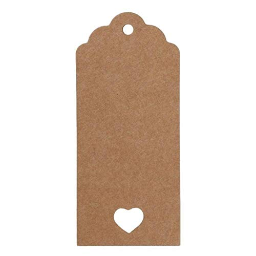 50PCS Natural Brown Kraft Tags Leather with Pure Color Jute Tags for Clothing Luggage Label Hand Made 4 * 7cm 4 * 9cm,4x9cm
