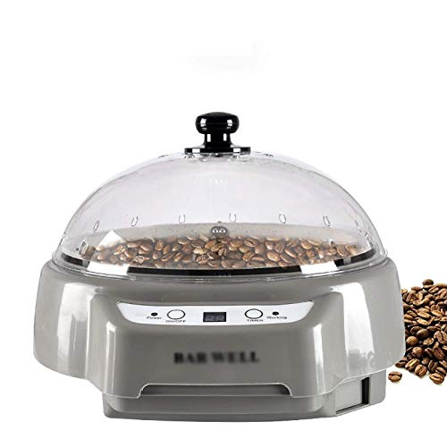Coffee Roast Machine Coffee Coffee Feaning Machine Hogar Pequeño frijol Asar Máquina de asar eléctrica Fruta seca Secador de kernel Uniforme Calefacción (Color: Gris, Tamaño: 33x25x13.5cm) YXF99