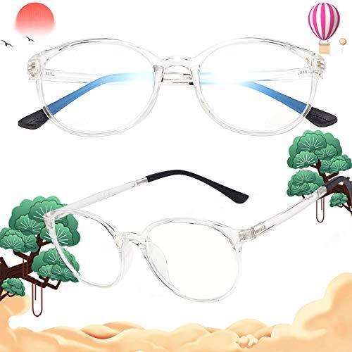 老眼鏡 軽いブルーライトカットメガネ おしゃれ ユニセックス メンズ レディース ケース付き 度付き クリア 度数+200 L8088