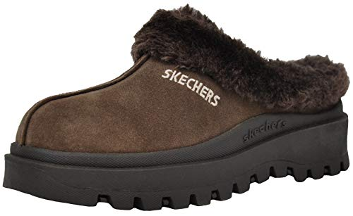 Skechers Women's Fortress Clog Slipper, Brown, 11 M US