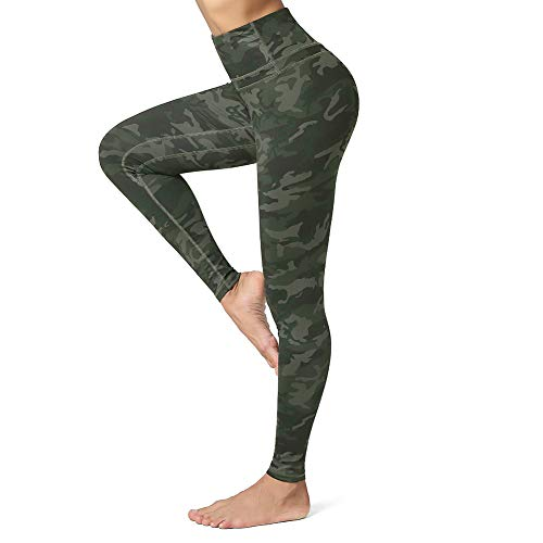 CLUCI High Waist Yoga Leggings for Women Tummy Control Workout Athletic Running Pants Active Non-See Through 4 Way Stretch with Inner Pocket Camo Large(L)