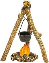 Mini Dollhouse FAIRY GARDEN Accessories - Campfire Cookout - My Garden Miniatures