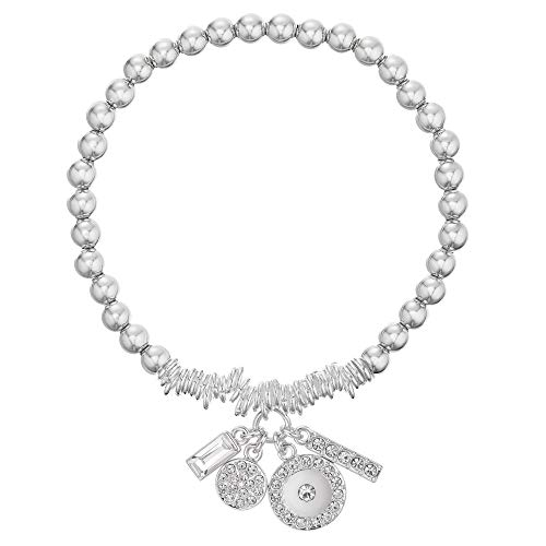 Buckley London Damen Armband Messing 18,0cm rhodiniert Kristall weiß 430060114