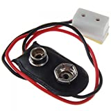 Jili Online 9V Battery Connector with Wire fit 12V Lamps Light for Dollhouse/House Model