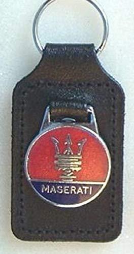 Llavero Maserati esmaltado y cuero