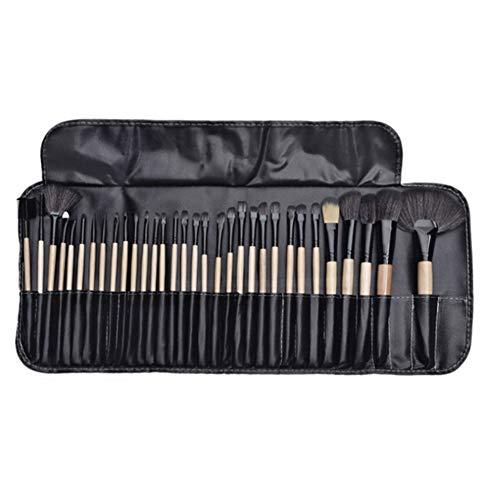 SNOWINSPRING 32 PièCes SéRies Pinceaux de Maquillage Professionnel Ensemble Fard à PaupièRes LèVre Maquillage Poudre Pinceau Beauté Outils CosméTiques Jeu Sac de Brosse